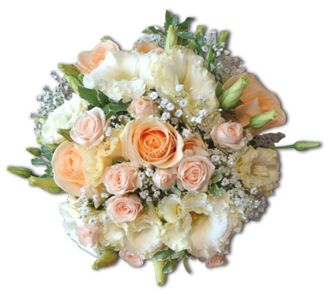 b437e90a6 Svadobná kytica - Marhuľové ruže 🌻 DonaskaKvetov.sk
